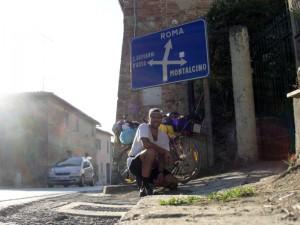 Primo cartello per Roma